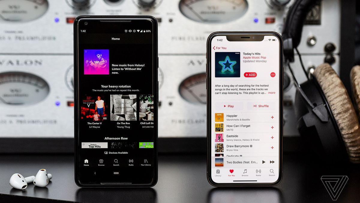 The two biggest giants of the streaming era - Spotify and Apple Music