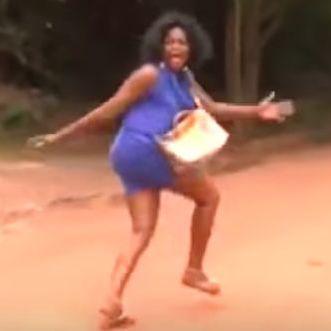 Funke Akindele running