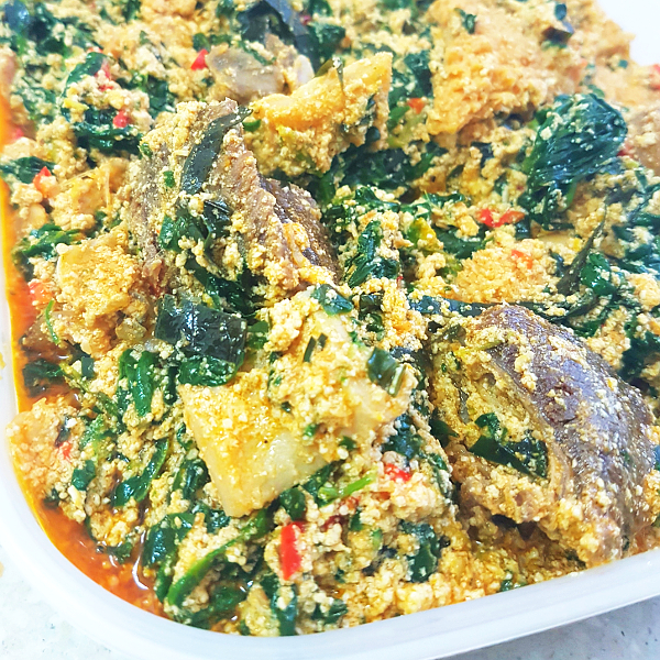 Pick the best type of swallow to eat this sick plate of Egusi with.