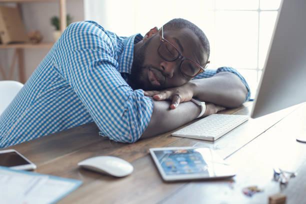 sleeping black man