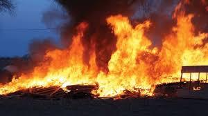 Nigeria market fire