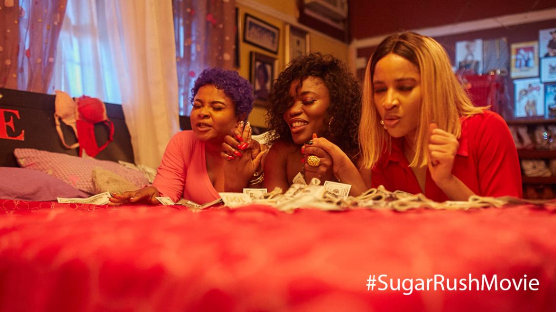 What is Bimbo Ademoye's name in 'Sugar Rush'?
