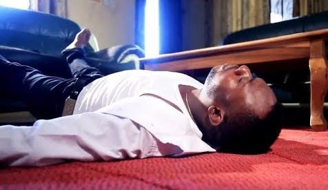 Fainting man Nigerian CV