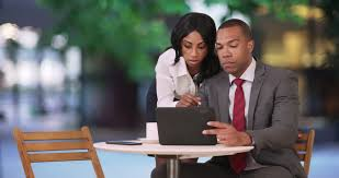 Image result for black man and woman in a business meeting
