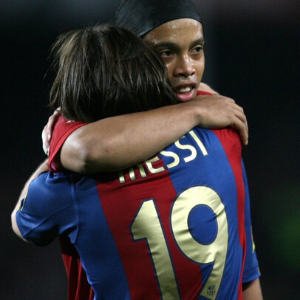 Messi's first La-Liga hat trick.