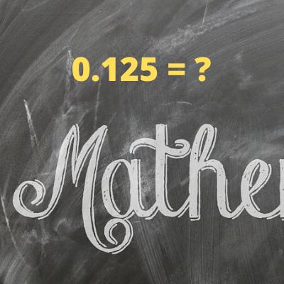 Convert a decimal to a fraction. I.e 0.5 = 1/2.