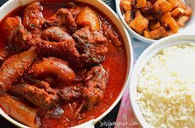 Nigerian Assorted Meat Stew - Obe Ata Dindin - Sisi Jemimah