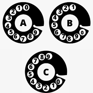Which of these rotary phones is numbered correctly?