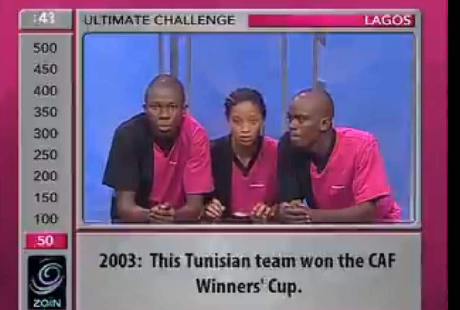 Before the CAF cup was changed to the CAF confederation cup, which Tunisian team won it?