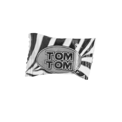 Besides black and white, what's the other colour on the original Tom Tom wrapper