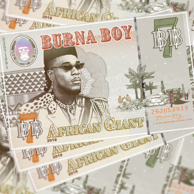 Which of these artists wasn't featured on Burna Boy's 'African Giant'?