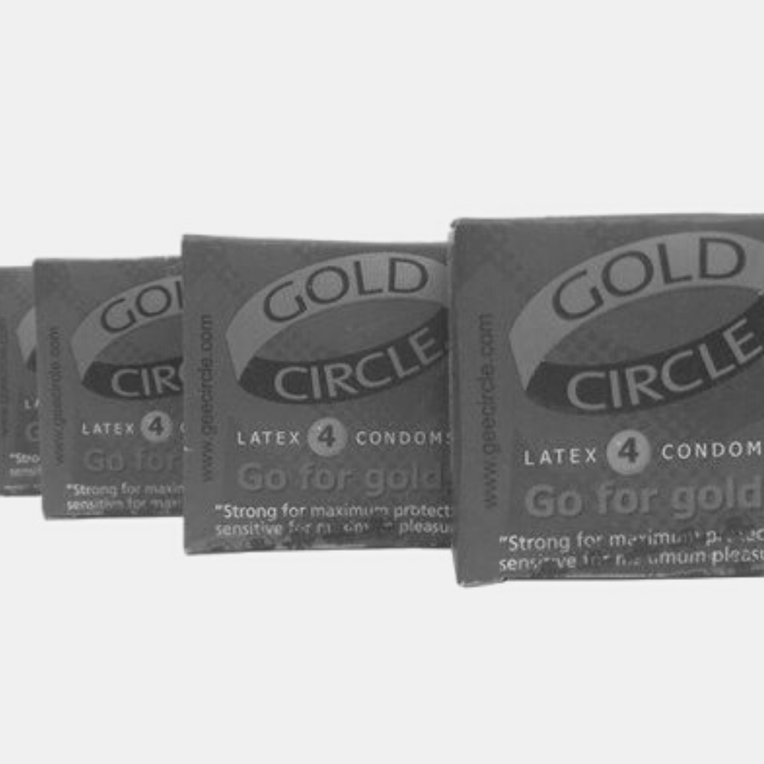 What colours are on the Gold Circle condom?