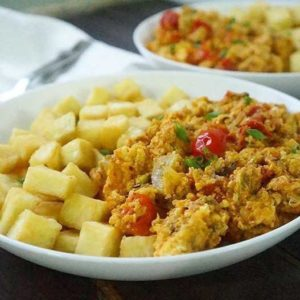 Yam and Fried Eggs
