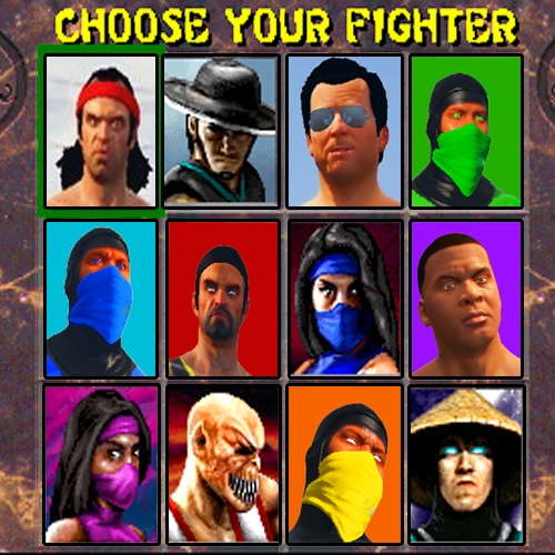 What fighting game are these characters from?