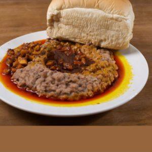 Ewa agoyin and bread