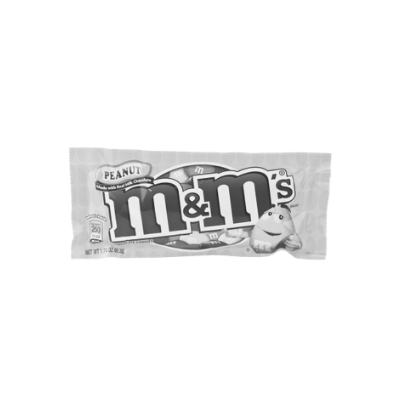 What's the main colour on this pack of peanut m&m's?