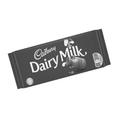 What's the main colour on this pack of Dairy Milk chocolate?