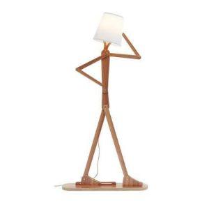 A stick figure lampholder