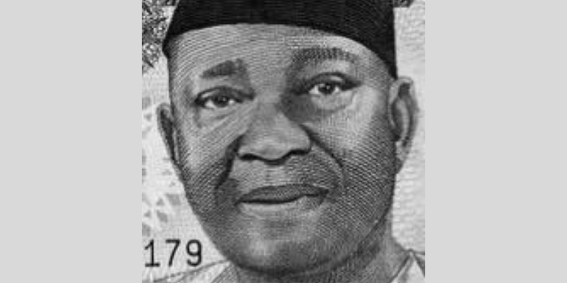 Which naira note is he on?