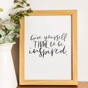 A framed quote