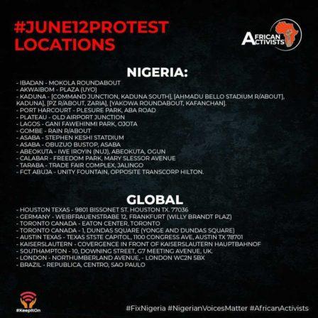 June 12 locations