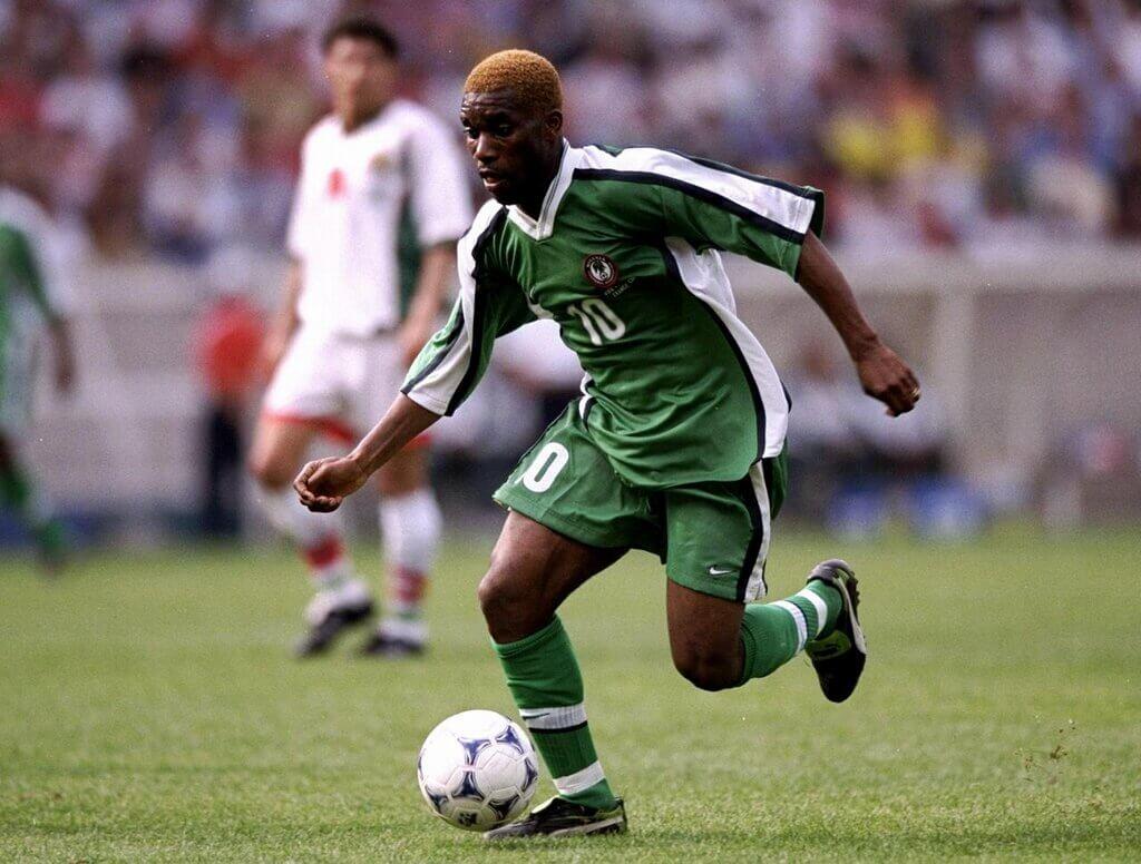 Which English club did Jay-Jay Okocha play for?