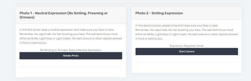 Image upload cards on pvc registration online portal