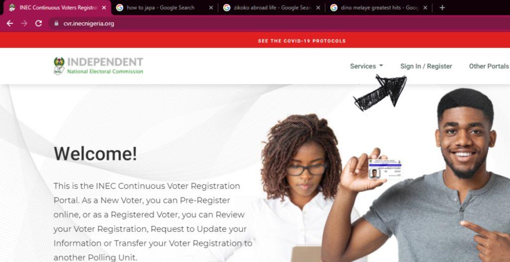 pvc registration online portal homepage
