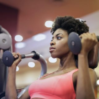 black woman in the gym