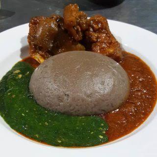 amala and ewedu Nigerian foods