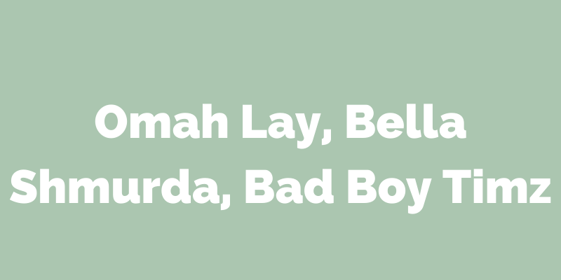 On which Olamide's album were these artists featured?
