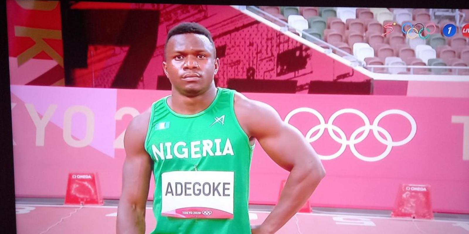 What sport does Enoch Adegoke participate in?