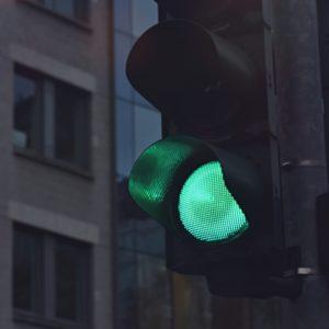Traffic light to turn green