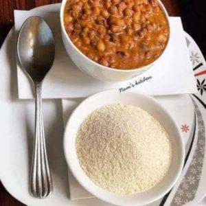 Garri and beans