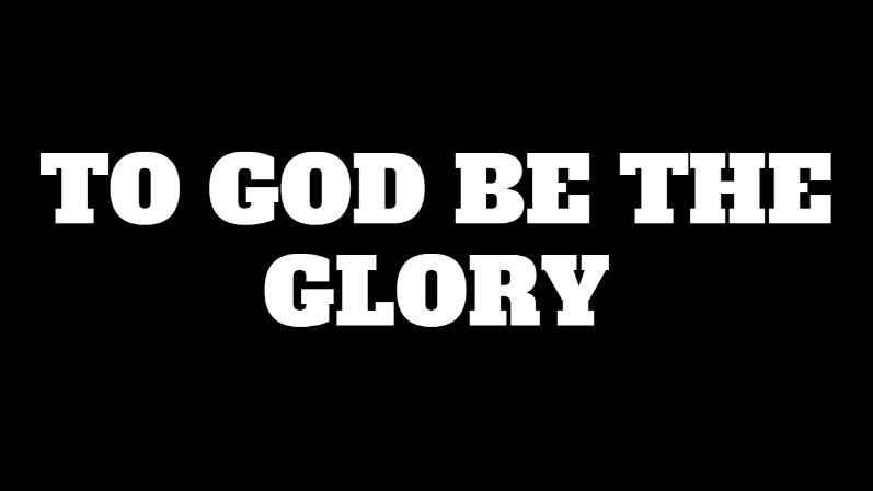 To-God-Be-The-Glory | Zikoko!