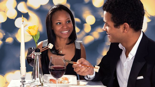 6. On a date,