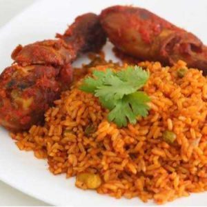 Jollof Rice + Chicken
