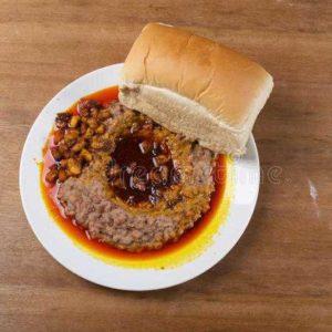 Bread and Ewa Agoyin