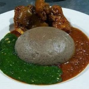 Amala and Ewedu