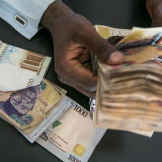 Naira notes counted ask partner for money