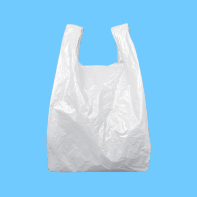 This big nylon bag is in the kitchen cupboard. What is in it?