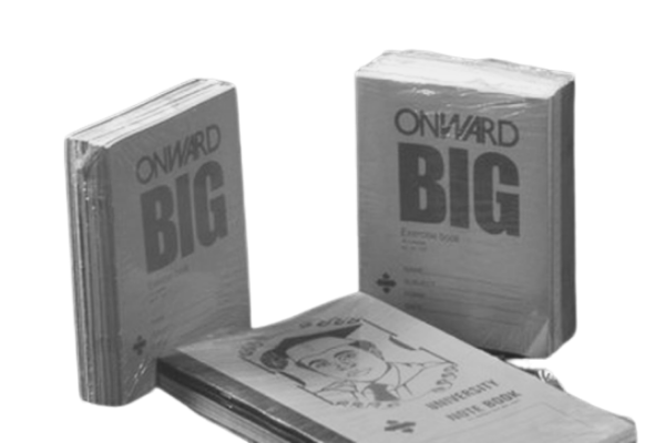 What's the colour of Onward notebooks?