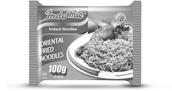 What's the main colour of the Indomie Oriental Noodles pack?