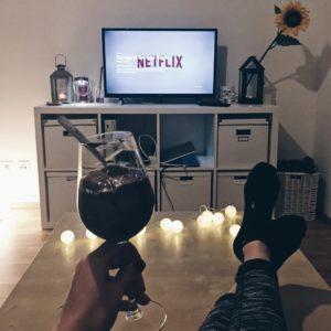 Binge-watching a series